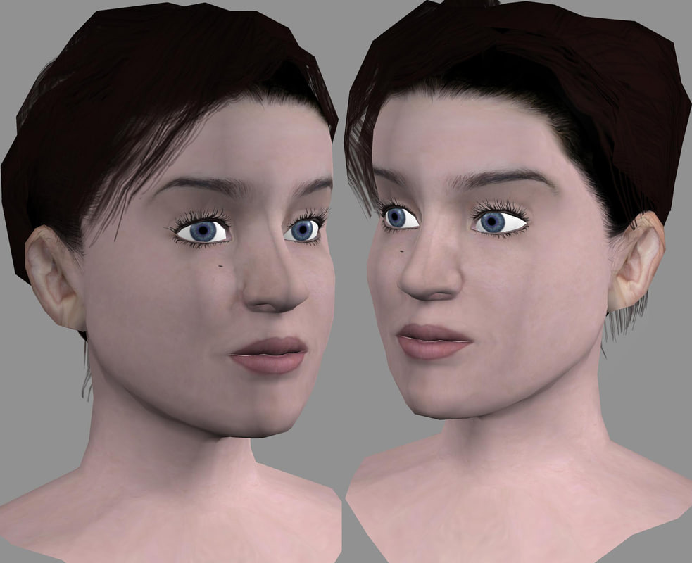 3d head female model