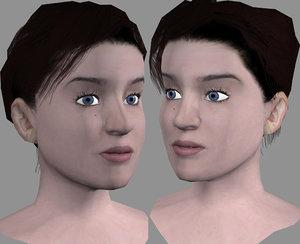 3d head female model