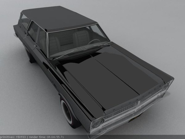 3d 1965 plymouth belvedere wagon model