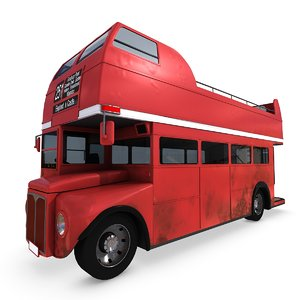 3ds max vintage open bus