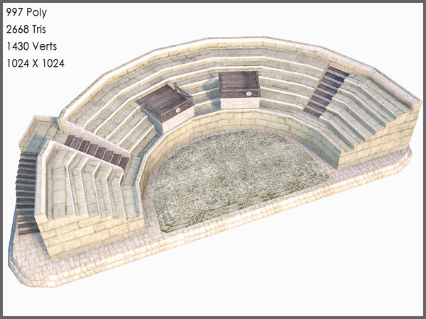 classic greek amphitheatre 3d model