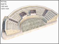 classic greek amphitheatre 3d model