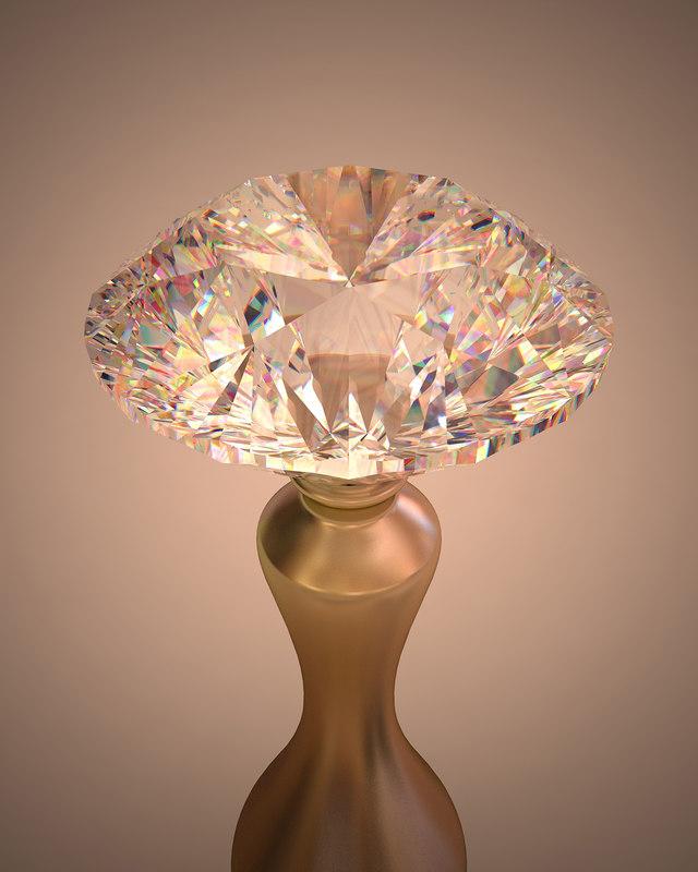 3d 3ds brilliant cut diamond