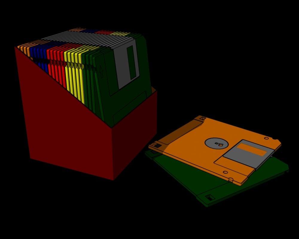 3d floppy box model