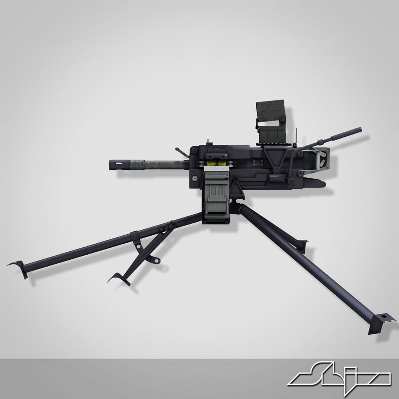 3d grenade machine gun model
