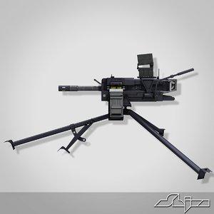 3d grenade machine gun model