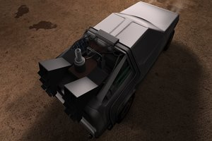 delorean car c4d free