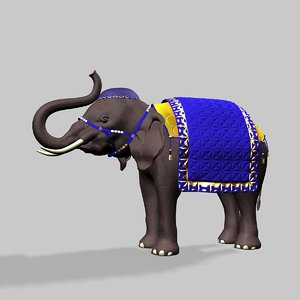 3d model of indian toy elephant