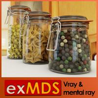 Sealed Glass Jars (vray & mr)