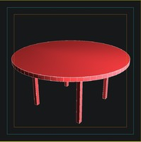 kenzo soho table 3d model