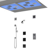 Kohler Chromatheraphy Lights at Ceiling shower fuacet mixer water tile kit modern contemporary