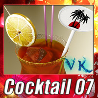 malibu cocktail 3d max