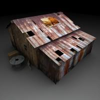 3d dynamite old shack model