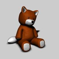 3d toy fox