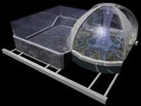 crystal area - 3d model
