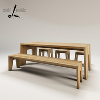 3d model stubborn table