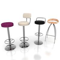 stool set 3d model