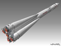 vostok 1 rocket space 3d max