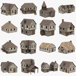 medieval building 3d 3ds