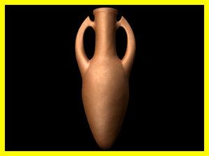 3d terracota amphora