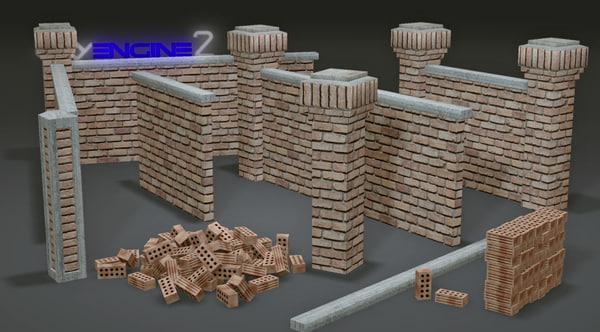 pack brick walls modular max free