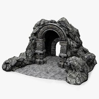 cave-entrance cave entrance 3d obj