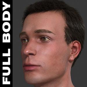 3d model realistic male body -