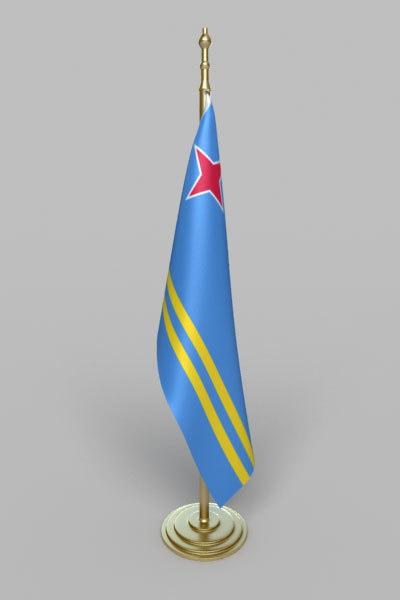 aruba flag 3d model