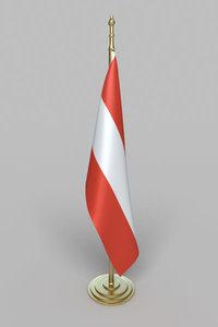 austria flag 3d 3ds
