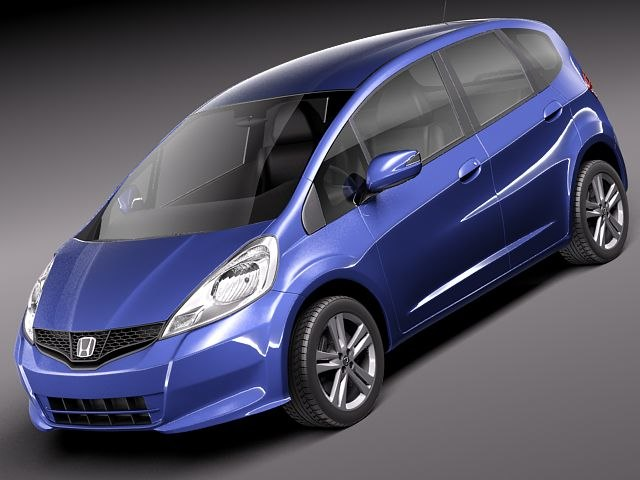 honda jazz fit japan 3d model