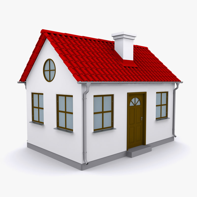 Small house 3d max 3d house building