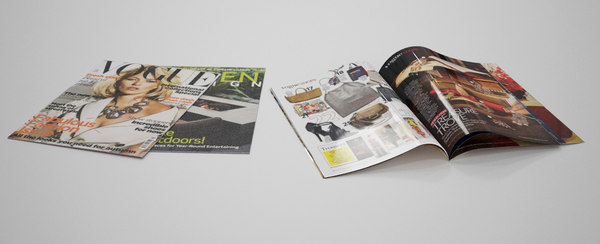 design fashion magazines 3d model