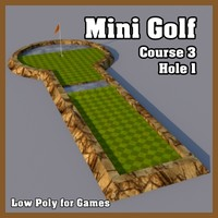 Low Poly Mini Golf Hole C3H1