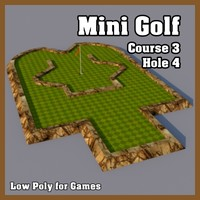 Low Poly Mini Golf Hole C3H4