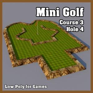 3d mini golf hole model