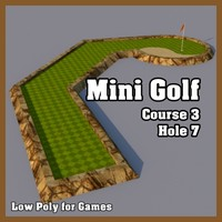 Low Poly Mini Golf Hole C3H7