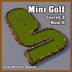 3d model of mini golf hole
