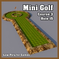 Low Poly Mini Golf Hole C3H15