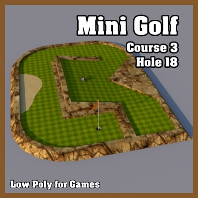 3d model mini golf hole