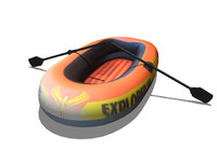 3d model inflatable rescue boat