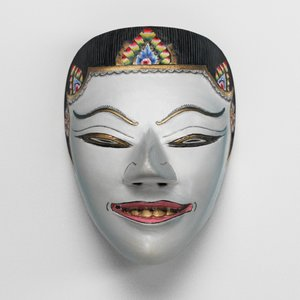 3d indonesian mask