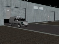 car delivery warehouse 3d model