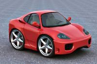 smart car ferrari 360 3d model