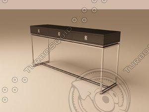 3d model eichholtz table console la