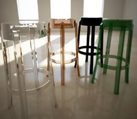 Stool Charles Ghost,Philippe Starck