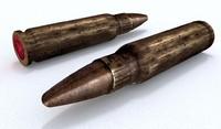3d model old bullet