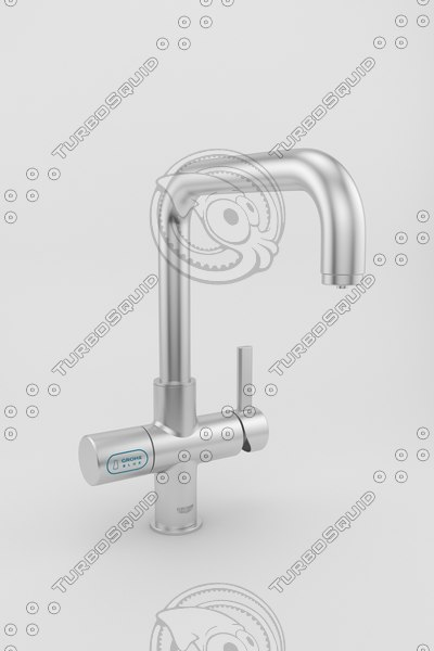 3d kitchen faucet model