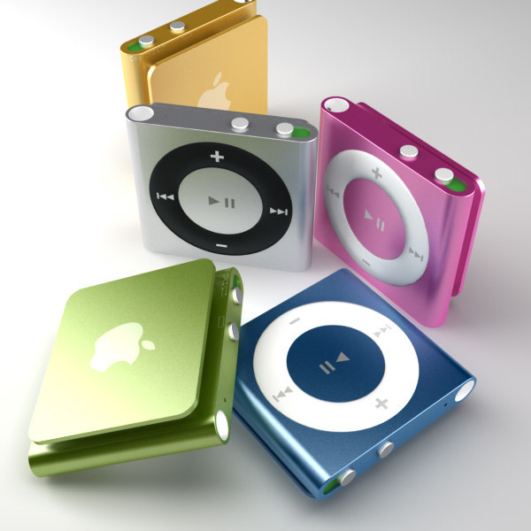 apple ipod shuffle 4th 3d 3ds