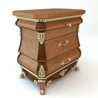 3d baroque nightstand