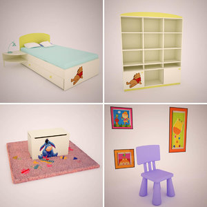 3d children s room furniture